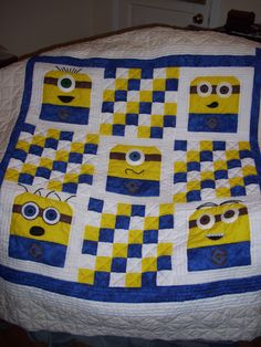 My Daughter Emma would love this quilt!  Minion Quilt