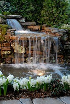 wasserfall im garten schönes exterieur   garten   Pinterest   Garten