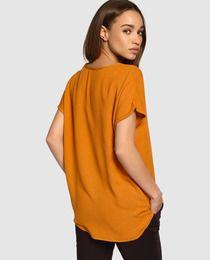 Blusa de mujer Vero Moda naranja con manga corta