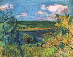 Vernonnet, Paysage pres de Giverney, 1924 (Pierre Bonnard).