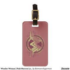 Wonder Woman | Pink Maroon Logo Tag For Luggage