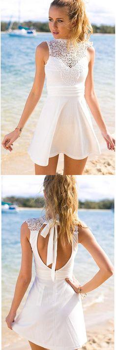 White Prom Dresses, Open Back Prom Dresses, Short Prom Dresses, Cheap Prom Dresses, Prom Dresses Short, Cheap Short Prom Dresses, White Lace Prom dresses, Prom Dresses Cheap, Short White Prom Dresses, Lace Prom Dresses, #cheappromdresses, #lacepromdresses, #shortpromdresses