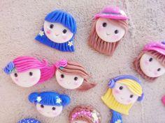 12 Bellas Caritas de Porcelana Fria o Masa por CuteArtisanCraft