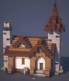 Minecraft Build House, Minecraft Mountain House, Minecraft Building Blueprints, Minecraft Farm, Minecraft Cottage, Easy Minecraft Houses, Minecraft House Tutorials, Minecraft Castle, Minecraft Plans