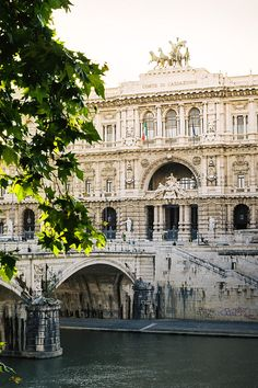 Palais de Justice and river Tevere , Rome, Italy