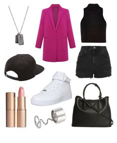 """""""We are all That Bad"""" by ll2amlllostllinllyoull ❤ liked on Polyvore featuring River Island, Prada, Werkstatt:München, Elizabeth and James, NIKE, Vans, Topshop and Charlotte Tilbury"""