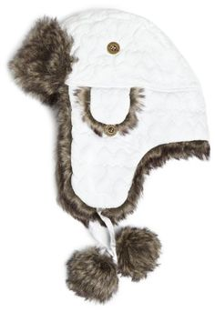 Chaos Women`s Wow Quilted Trapper Hat with Faux Fur Lining $17.99