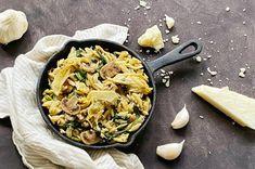 Romige orzo met artisjok, spinazie en champignons - Made from Scratch Orzo, Risotto, Pasta, Ethnic Recipes, Food, Mushroom, Essen, Meals, Yemek
