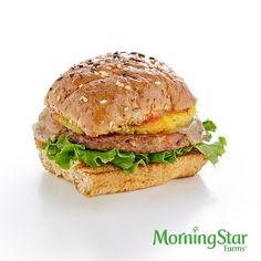 The Hawaiian Burger – made with 110-calorie MorningStar Farms® Garden Veggie Patties™.