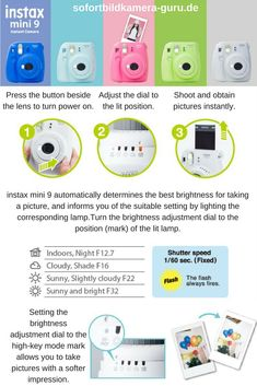 Fujifilm Instax Mini 9 Polaroid Kamera im Test 2019 🥇 Polaroid Instax Mini, Fuji Instax Mini, Polaroid Camera Fujifilm, Fujifilm Instax Mini 8, Instax Tips, Instax Mini Ideas, Camara Fujifilm, Photo Hacks, Polaroid Pictures