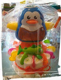 Werd gemaakt op bestelling ♥  Pampertaart Pinguïn