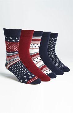 Topman 'Stars and Stripes' Socks (5-Pack) | Nordstrom  $24