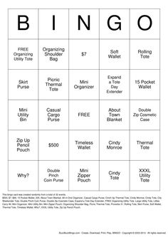 Thirty One Bingo Card. For the consultant looking for a new game. Thirty One Games, Thirty One Party, 31 Party, Thirty One Business, Thirty One Consultant, 31 Gifts, Bingo Cards, Change, Love My Job
