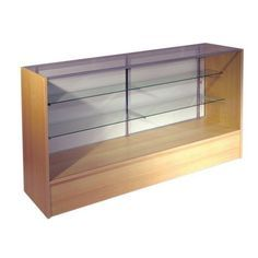 400 Series SC4M - Full Vision Display Counter - L1200mm - Maple