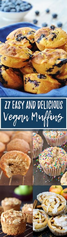 This unique collection of 25 incredibly delicious vegan muffins got every flavor covered! Blueberry, chocolate, pumpkin, kiwi, and mango- we got it all! Vegan muffins at their best! <3 | veganheaven.org