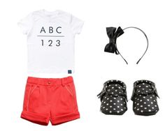 """""""ABC 123 T Shirt"""" by babiesswardrobe ❤ liked on Polyvore"""