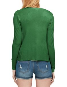 LE3NO Womens Soft Fitted Basic Cardigan Sweater | LE3NO Women's Cardigans, Cardigans For Women, Sweaters, Stylish Outfits, Sweater Cardigan, V Neck, Fitness, Sleeves, Pullover