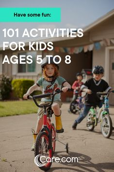 101 Awesome Activities For Kids Ages 5 To 8 Activities For 5 Year Olds, Kids Activities At Home, Bonding Activities, Weekend Activities, Learning Activities, Buffy, 8 Year Old Boy, Play N Go, 8 Year Olds