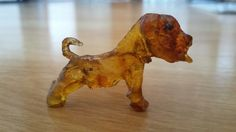 Dog made of cherry resin  ~made by