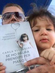 Two beautiful stars: Candida Volpiani and Lucia, both reading Se ho paura prendimi per mano... amzn.to/1zvZQ1S