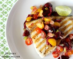 Grilled-Swordfish-with-Spicy-Cherry-Salsa-from-The-Hungry-Goddess