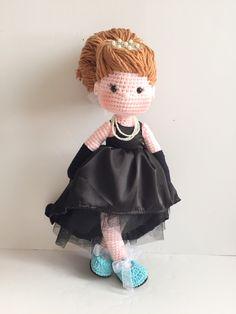 Audrey Hepburn crochet doll