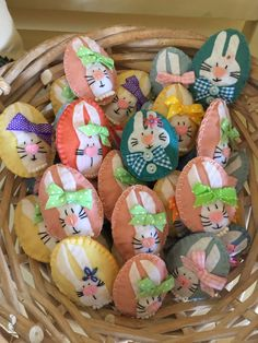 Easter egg bunny brooch or ornament.