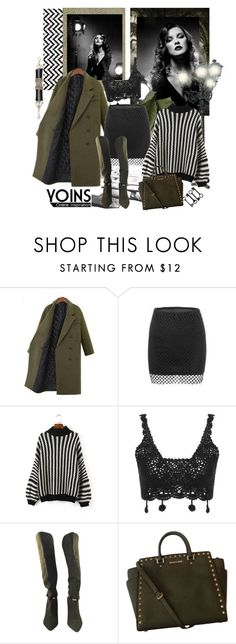 """YOINS Monochrome Chevron Pattern Sweater"" by carola-corana ❤ liked on Polyvore featuring Levi's, Isabel Marant, Michael Kors, yoins and yoinscollection"