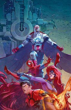 Capitão America, Homem-Aranha, Inumanos e um herói da Era de Ouro