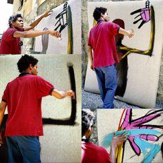 Basquiat at work
