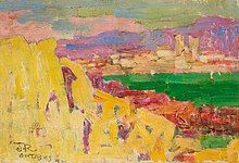 John Russell, Antibes, about Oil on canvas, × 24 cm. Art Gallery of New South Wales, Sydney. Gift of the Margaret Hannah Olley Art Trust 2012 © AGNSW. Australian Painting, Australian Artists, John Russell, John Peter, National Gallery, Damien Hirst, Edouard Manet, Camille Pissarro, Edgar Degas