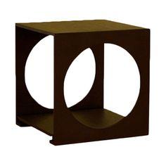 Cognac Cube End Table