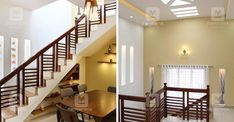 3-cent-house-tvm-stair Stair Railing Design, Home Stairs Design, Kerala Traditional House, Indian House Plans, Colonial House Plans, House Construction Plan, Kerala House Design, Kerala Houses, Indian Homes