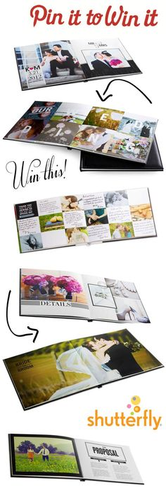 {GIVEAWAY}: Shutterfly - PIN it to WIN it! Want a chance to win a Premium 8×11 photo book with genuine leather cover and 20 layflat pages? (119.99 value) Click here for ALL the fun details. http://www.theperfectpalette.com/2012/10/sponsored-post-giveaway-shutterfly.html#