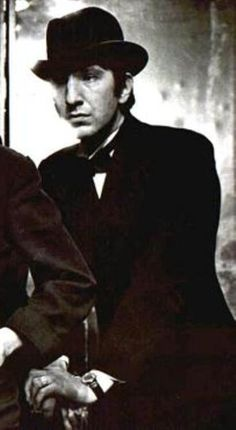"""1980 - Alan Rickman in """"The Devil Himself."""" This is a cropped picture. Alan Rickman was in the play at Lyric Studio, Hammersmith, London, England."""