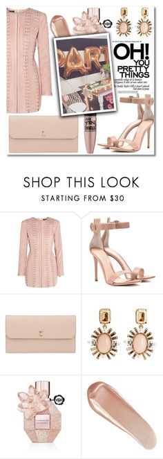 """""""Party Dress"""" by gingembre ❤ liked on Polyvore featuring Balmain, Gianvito Rossi, Valextra, Oscar de la Renta, Maybelline, Viktor & Rolf and NARS Cosmetics"""