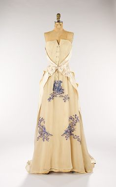Dress, Evening  House of Givenchy  (French, founded 1952)  Designer: Hubert de Givenchy (French, born Beauvais, 1927) Date: ca. 1953 Culture: French Medium: silk.    Credit Line: Brooklyn Museum Costume Collection at The Metropolitan Museum of Art, Gift of the Brooklyn Museum, 2009; Gift of Rodman A. Heeren, 1960.  SOOO adorable!!!