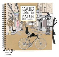 """""""Cat's Ride In Paris"""" by mk-style ❤ liked on Polyvore featuring art"""