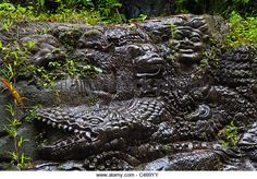 Artisans Have Carved The Story Of The Ramayana In Stone Along The Banks Of The Ayung