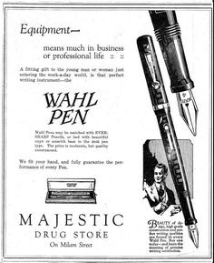 Wahl Pen ad from the 1920s - Wahl-Eversharp - The Fountain Pen Network
