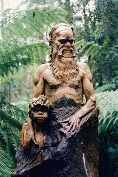 Ceramic sculptures merge with natural environment at William Ricketts Sanctuary - Victoria, Australia