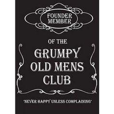 Grumpy Old Men Fridge Magnet