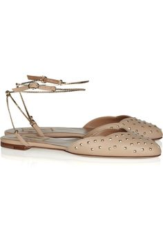 Valentino Chain strap studded leather sandals