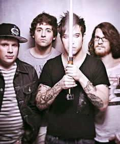 Fall Out Boy Lightsaber photoshoot