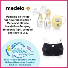 Medela is one of the most trusted breast pump brands so we're thrilled share their Ultimate Hands-Free Pumping Solution with you! It includes Medelas Freestyle Double Electric Breast Pump and Easy Expression Bustier and is a compact easy to use system thats great when youre on the go! This Ultimate Hands-Free Pumping Solution is one of the amazing prizes in our Win A Dream Nursery  Baby Essentials giveaway going on now! Click on link in bio to enter. #ad  The promotion is open to Canadian…