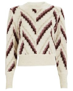 Glenny Chevron Alpaca-Blend Sweater