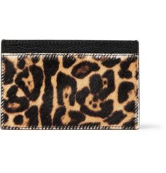 Sure why not?!  Yves Saint Laurent Leopard-Print Card Holder | MR PORTER #pinparty