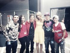 Austin Mahone on Taylor Swift's RED TOUR! omg i saw it it was great!!!