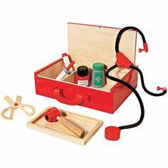 Amazon.com: FAO Schwarz Wooden Doctor Kit: Toys & Games