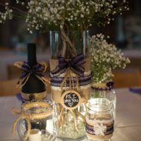 The Barn at Evergreen Wedding Table Setting